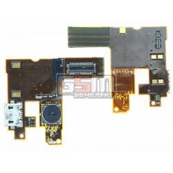 Шлейф для Nokia 6500c, динамика, коннектора зарядки, с камерой, с компонентами