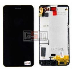 Дисплей для Nokia 630 Lumia Dual Sim, черный, с сенсорным экраном (дисплейный модуль), с рамкой