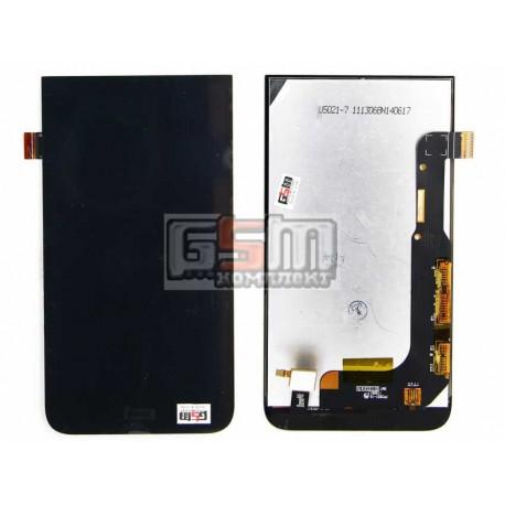 Дисплей для HTC Desire 616 Dual Sim, черный, с сенсорным экраном (дисплейный модуль)