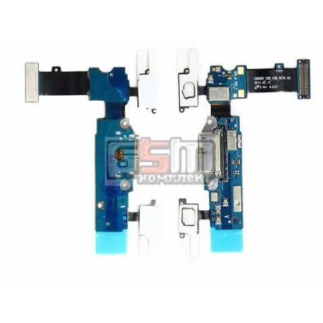 Шлейф для Samsung G900H Galaxy S5, коннектора зарядки, с компонентами