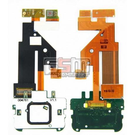 Шлейф для Nokia 5610, копия, межплатный, с компонентами, без камеры, с верхним клавиатурным модулем