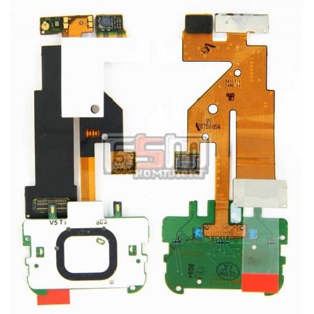 Шлейф для Nokia 5610, межплатный, с камерой, с компонентами, с верхним клавиатурным модулем