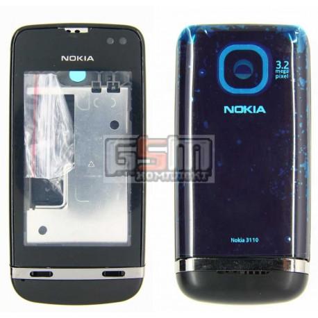 Корпус для Nokia 311 Asha, черный, копия ААА