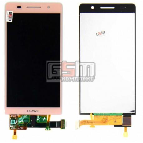 Дисплей для Huawei Ascend P6-U06, розовый, с сенсорным экраном (дисплейный модуль), Original (PRC)