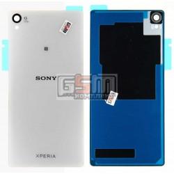 Задняя панель корпуса для Sony D6603 Xperia Z3, D6633 Xperia Z3 DS, D6643 Xperia Z3, D6653 Xperia Z3, белая