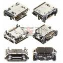 Коннектор зарядки для Samsung B3310, B7610, C3300, C5510, I5500 Galaxy 550, I9070 Galaxy S Advance, I9100 Galaxy S2, I9103 Galaxy R, M3710, M7500, M7600, S3550, S5150 La Fleur DIVA, S5510, S5560, S5600, S5600v, S5603, S7070, оригинал, #3722-002840
