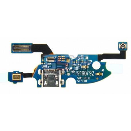 Шлейф для Samsung I9190 Galaxy S4 mini, I9192 Galaxy S4 Mini Duos, I9195 Galaxy S4 mini, коннектора зарядки, микрофона, с компон
