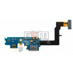 Шлейф для Samsung I9105 Galaxy S2 Plus, мікрофону, конектора зарядки, з компонентами