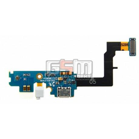 Шлейф для Samsung I9105 Galaxy S2 Plus, коннектора зарядки, микрофона, с компонентами