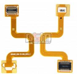 Шлейф для Samsung C250, оригинал, межплатный, с компонентами, (GH59-04016A)