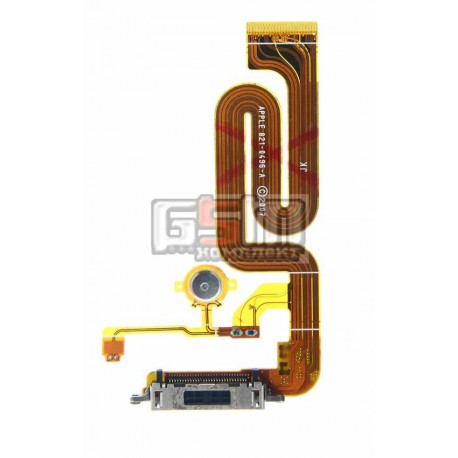 Шлейф для Apple iPhone 2G, коннектора зарядки, с компонентами