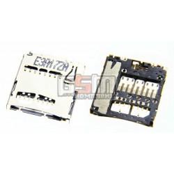 Коннектор карты памяти для Samsung B7722, B7722i, C3510, C3530, C5010, C6712, E2152, E2530, E2550, I5700 Galaxy Spica, I5800 Gal