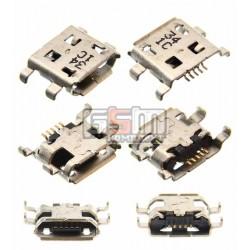 Коннектор зарядки Micro-USB для Blackberry 8900, 9500, 9530, 9630, Z10, 5 pin, тип-B