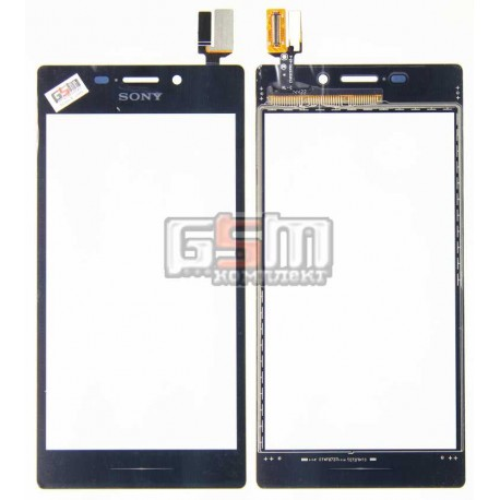 Тачскрин для Sony D2302 Xperia M2 Dual, D2303 Xperia M2, D2305 Xperia M2, D2306 Xperia M2, черный