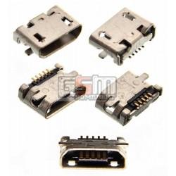 Коннектор зарядки Micro-USB для Nokia 207, 208, 220 Dual SIM, 230 Dual Sim, 500 Asha Dual Sim, 503 Asha Dual Sim, 710 Lumia, 5 pin, тип-B