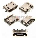 Коннектор зарядки для Nokia 207, 208, 220 Dual SIM, 230 Dual Sim, 500 Asha Dual Sim, 503 Asha Dual Sim, 710 Lumia, 5 pin, micro-USB тип-B