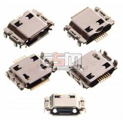 Коннектор зарядки для Samsung I8910 Omnia HD, I9000 Galaxy S, I9001 Galaxy S Plus, I9003 Galaxy SL, S5260, S5350 Shark, S5660, S7220, оригинал, #3722-002867A