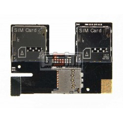 Коннектор SIM-карты для HTC Desire 500 Dual Sim , коннектор карты памяти, со шлейфом, на две SIM-карты