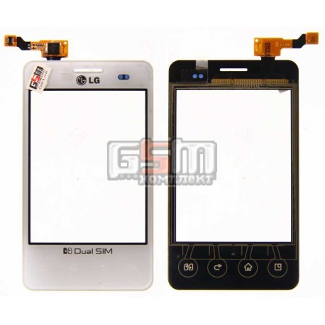 Тачскрин для LG E405 Optimus L3, белый