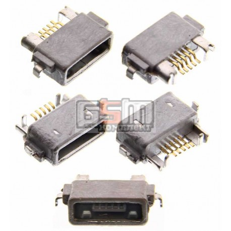 Коннектор зарядки для Sony Ericsson ST18i, WT18, WT19; Sony C6602 L36h Xperia Z, C6603 L36i Xperia Z, LT25i Xperia V, LT26W Xper