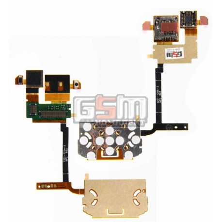 Шлейф для Sony Ericsson W760, камеры, дисплея, с компонентами, с верхним клавиатурным модулем