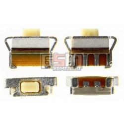 Кнопка универсальная включения/звука для Samsung B5510, B5512, B7722, B7722i, C3312, C3330, C3752, C3782, E2530, I8510, S3350, S5250, S5300 Pocket, S5610, S5750, S5753, S5830 Galaxy Ace, S5830i Galaxy Ace, S6102 Galaxy Y Duos, S6352, S6802