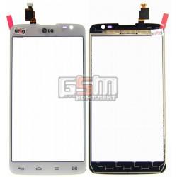 Тачскрін для LG D686 G Pro Lite Dual, білий