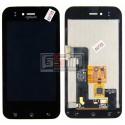 Дисплей для LG E730 Optimus Sol, E739, черный, с тачскрином