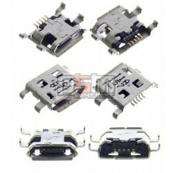 Коннектор зарядки Micro-USB для Sony C1503 Xperia E, C1504 Xperia E, C1505 Xperia E, C1604 Xperia E Dual, C1605 Xperia E Dual, 5 pin, тип-B