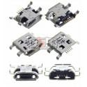 Коннектор зарядки для Sony C1503 Xperia E, C1504 Xperia E, C1505 Xperia E, C1604 Xperia E Dual, C1605 Xperia E Dual, 5 pin, micro-USB тип-B