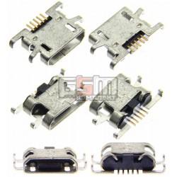 Коннектор зарядки Micro-USB для Sony C1904 Xperia M, C1905 Xperia M, C2004 Xperia M Dual, C2005 Xperia M Dual, 5 pin, тип-B