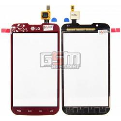 Тачскрін для LG P715 Optimus L7 II, червоний, la fleur