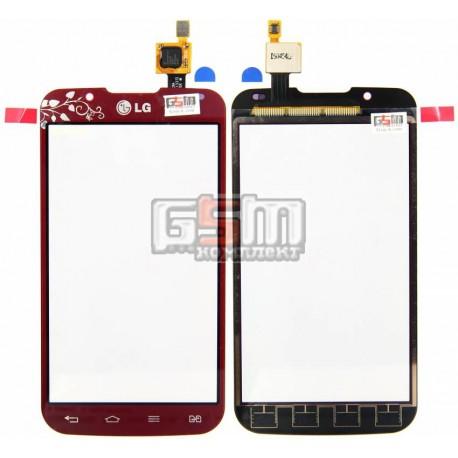Тачскрин для LG P715 Optimus L7 II, красный, la fleur