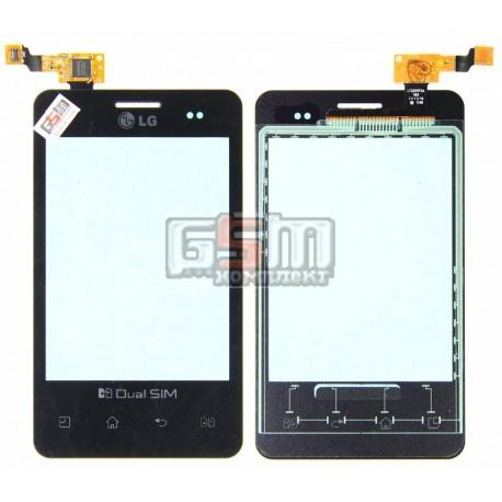 Тачскрин для LG E405 Optimus L3, черный