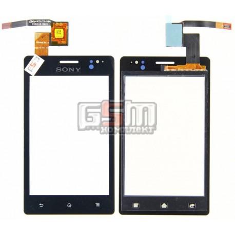 Тачскрин для Sony ST27i Xperia Go , черный