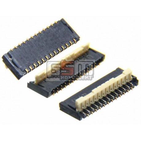 Коннектор тачскрина для HTC G24, T320e One V , T328d Desire VC, T328e Desire X, T328t Desire VT, T328w Desire V, 33 pin