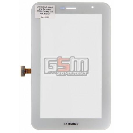 Тачскрин для планшета Samsung P6200 Galaxy Tab Plus, белый