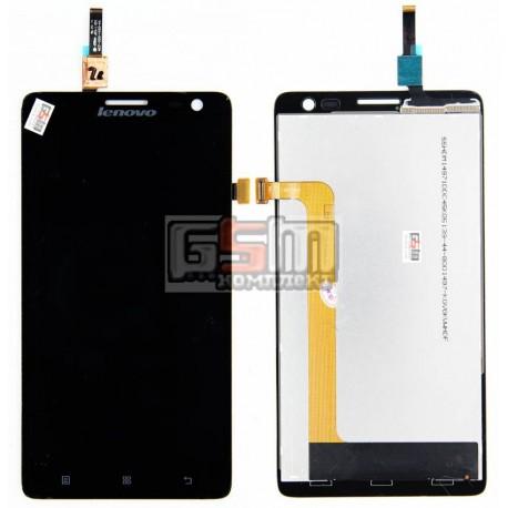Дисплей для Lenovo S856, черный, с сенсорным экраном (дисплейный модуль)