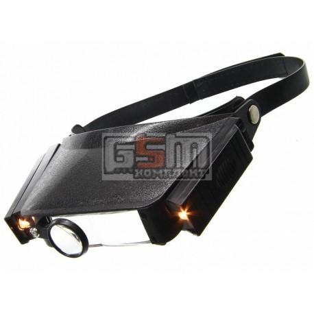 Линза налобная (бинокуляр) MG-81007 с подсветкой