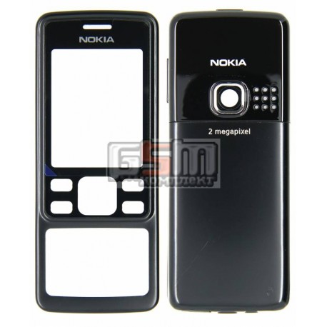 Корпус для Nokia 6300, черный, копия ААА, с клавиатурой