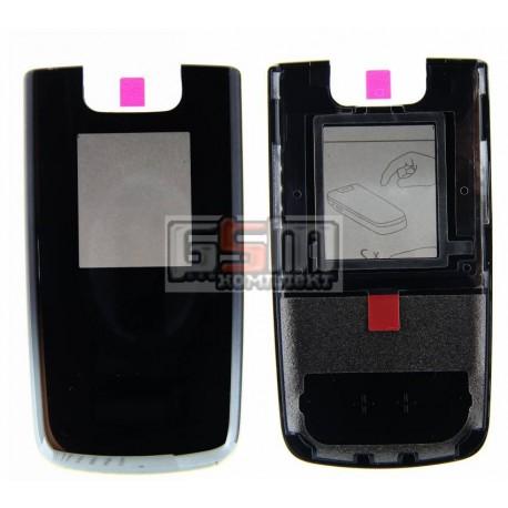 Передняя панель корпуса для мобильного телефона Nokia 6600f, оригинал, черный, (0251172)