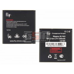 Аккумулятор BL7403 для Fly IQ431 Glory, оригинал, (Li-ion 3.7V 1300mAh), (381W94000003/7020220100)
