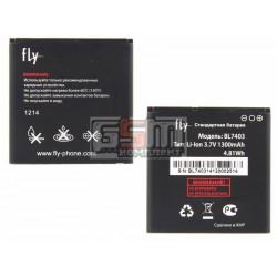 АккумуляторBL7403дляFlyIQ431Glory,оригинал,(Li-ion3.7V1300mAh),(381W94000003/7020220100)