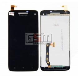 Дисплей для Lenovo S960 Vibe X, черный, с сенсорным экраном (дисплейный модуль), #AT050IC00002