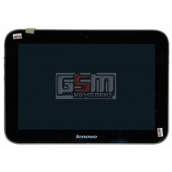 Дисплей для планшета Lenovo IdeaTab A2109, черный, с сенсорным экраном (дисплейный модуль), с рамкой