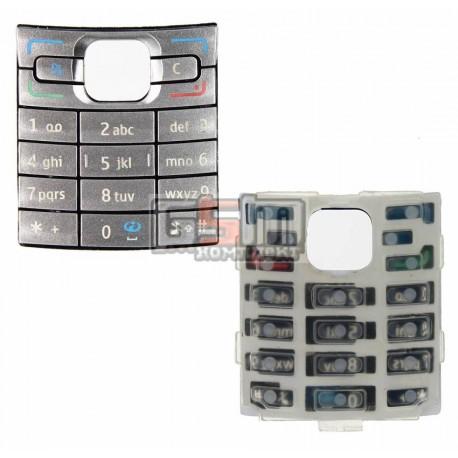 Клавиатура для Nokia E50, серебристая, английская