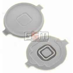 Пластик кнопки меню для Apple iPhone 3G, iPhone 3GS, iPhone 4, белый