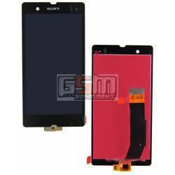 Дисплей для Sony C6602 L36h Xperia Z, C6603 L36i Xperia Z, C6606 L36a Xperia Z, черный, original (PRC), с сенсорным экраном (дис