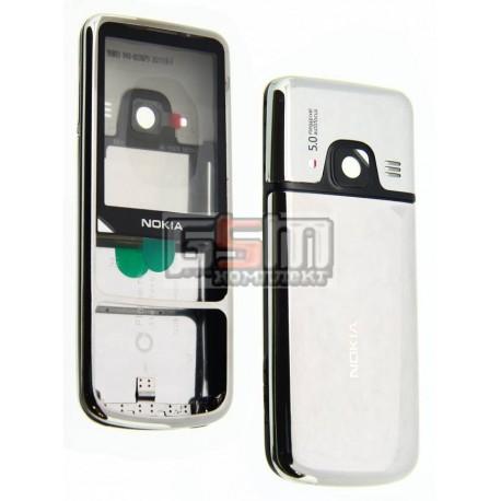 Корпус для Nokia 6700c, серебристый, high-copy