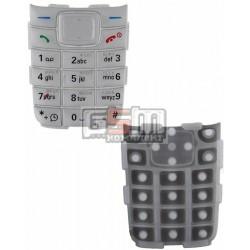Клавиатура для Nokia 1110, 1110i, 1112, серебристая, русская